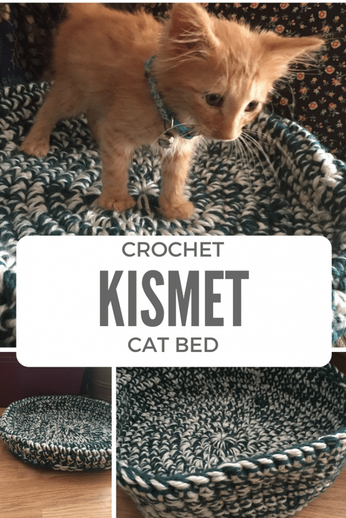 Free crochet pattern for the Kismet Cat Bed