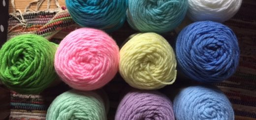 The colors I'll be using on my throw for the crochet along. -- My Workbasket