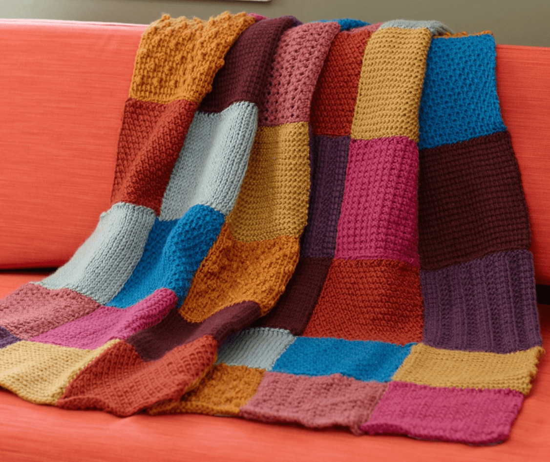 The Lion Brand Tunisian Throw I'll be using for a CAL-- My Workbasket