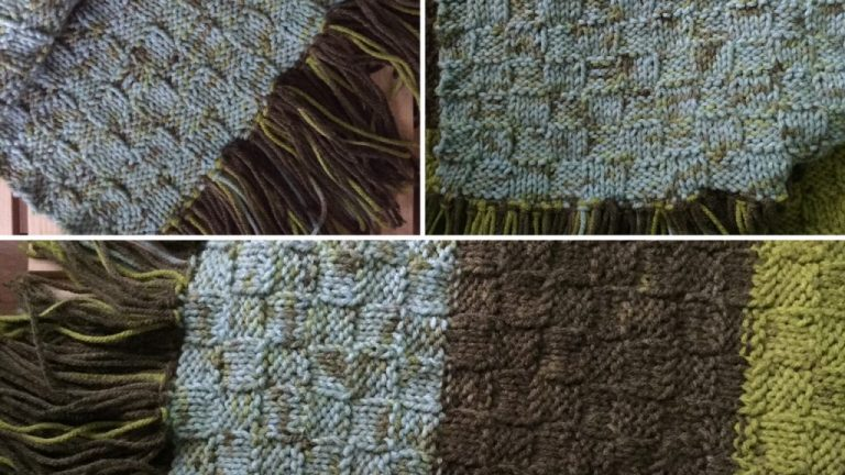 Woven Knitting Pattern – Forest Floor Scarf
