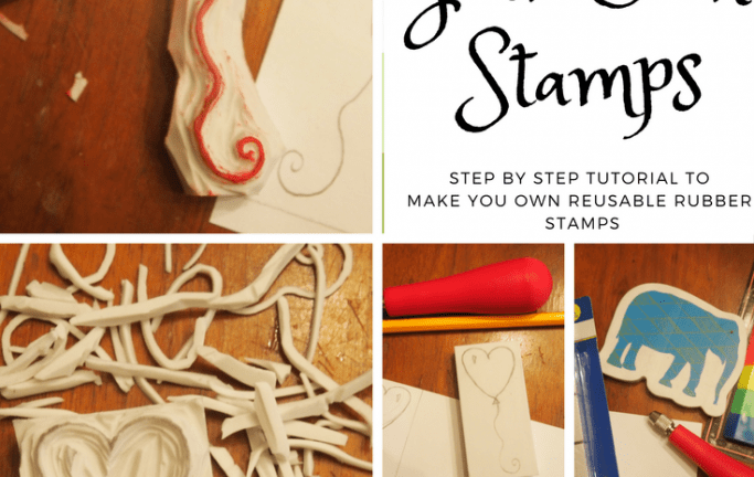 Stamp Carving- Tutorial- Make Your Own Reusable Rubber Stamps