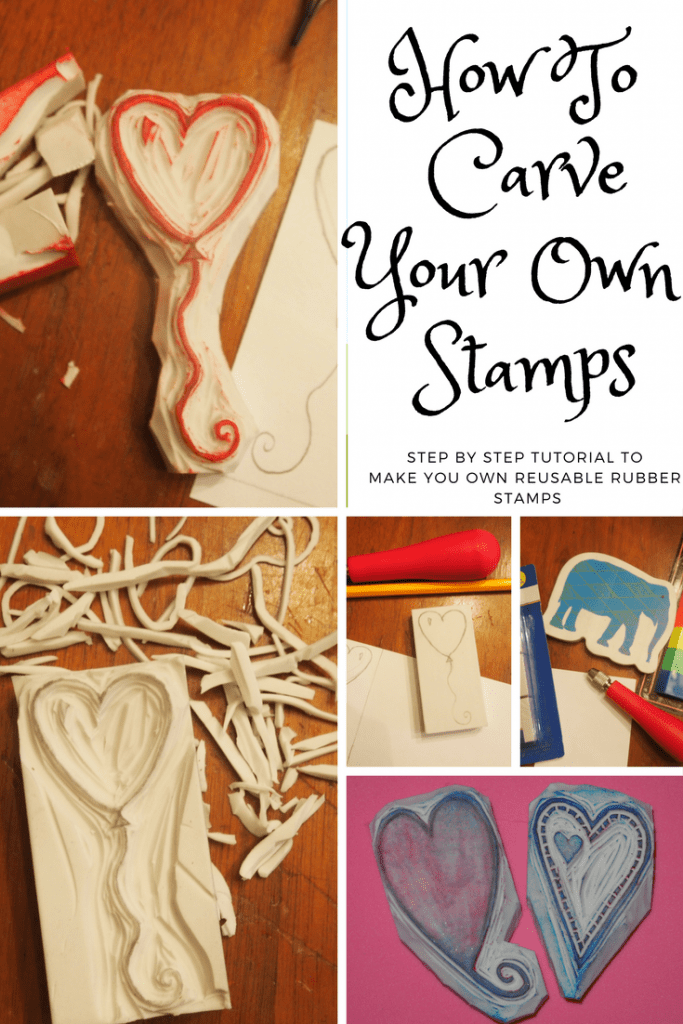 Stamp carving tutorial make your own reusable rubber