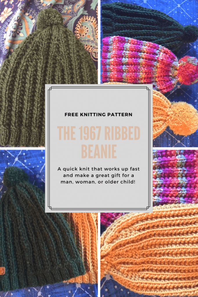 Free Knitting Pattern for the 1967 Ribbed Beanie-- My Workbasket
