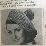 A beret from a vintage craft magazine, from 1967. You can make it!-- My Workbasket