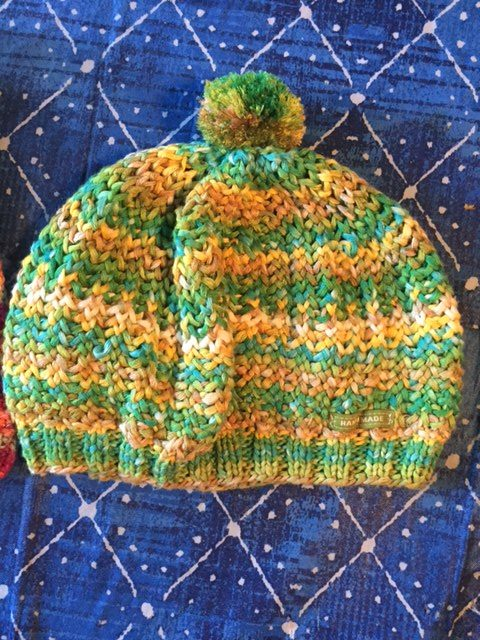 The 1967 Beret, a great hat, easy stitch, available as a free knitting pattern!-- My Workbasket