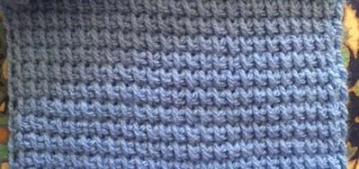 Square A for the Tunisian Throw Crochet Along-- My Workbasket