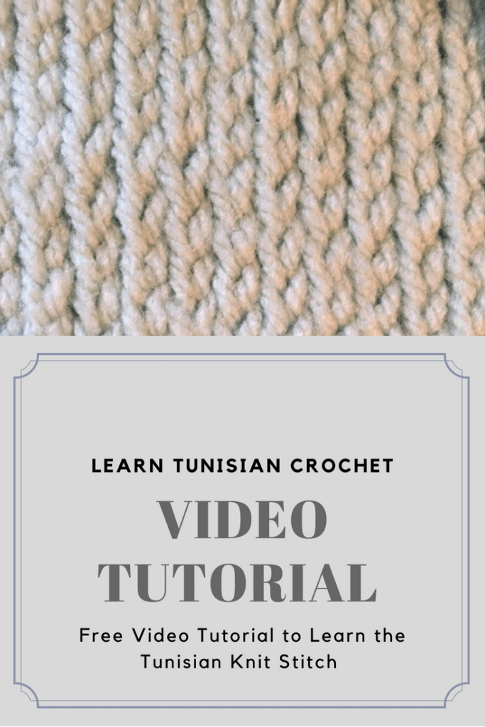 Want to Learn Tunisian Crochet? Free video tutorial for the lovely Tunisian Knit Stitch -- My Workbasket