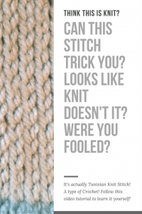 Free video tutorial of how to do the Tunisian Knit Stitch-- My Workbasket
