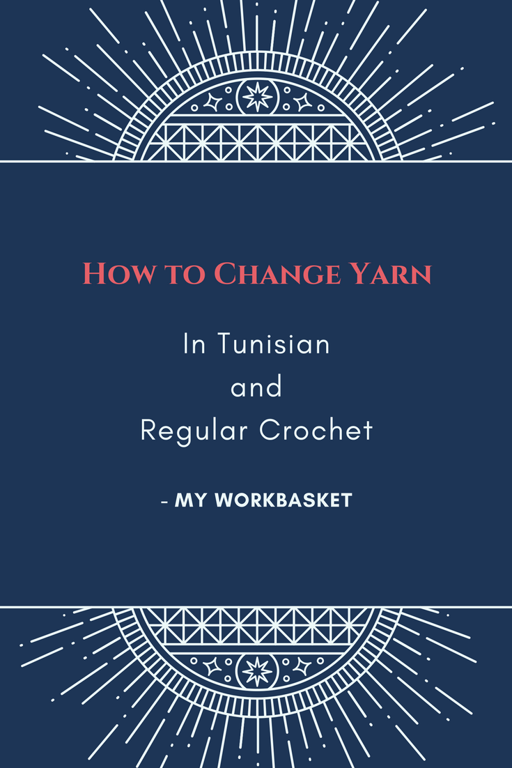 A video tutorial about how to change yarn in both tunisian and regular crochet. -- My Workbasket
