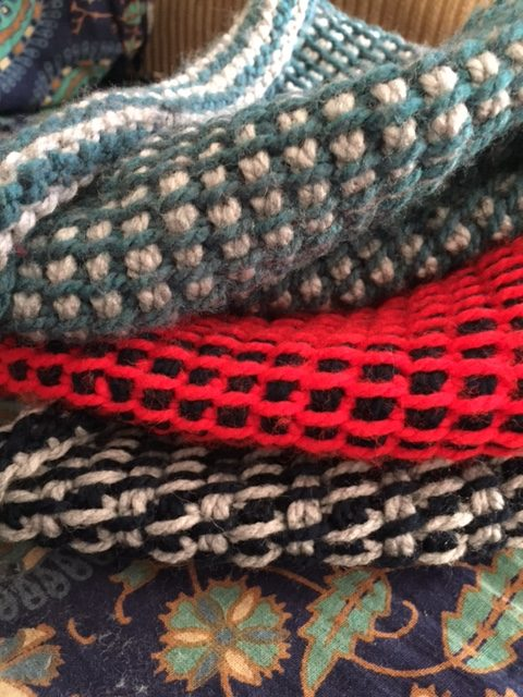 A stack of Hygge Hats- My Workbasket