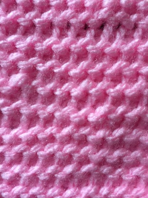 Sample of the Tunisian Crochet Purl Stitch-- My Workbasket
