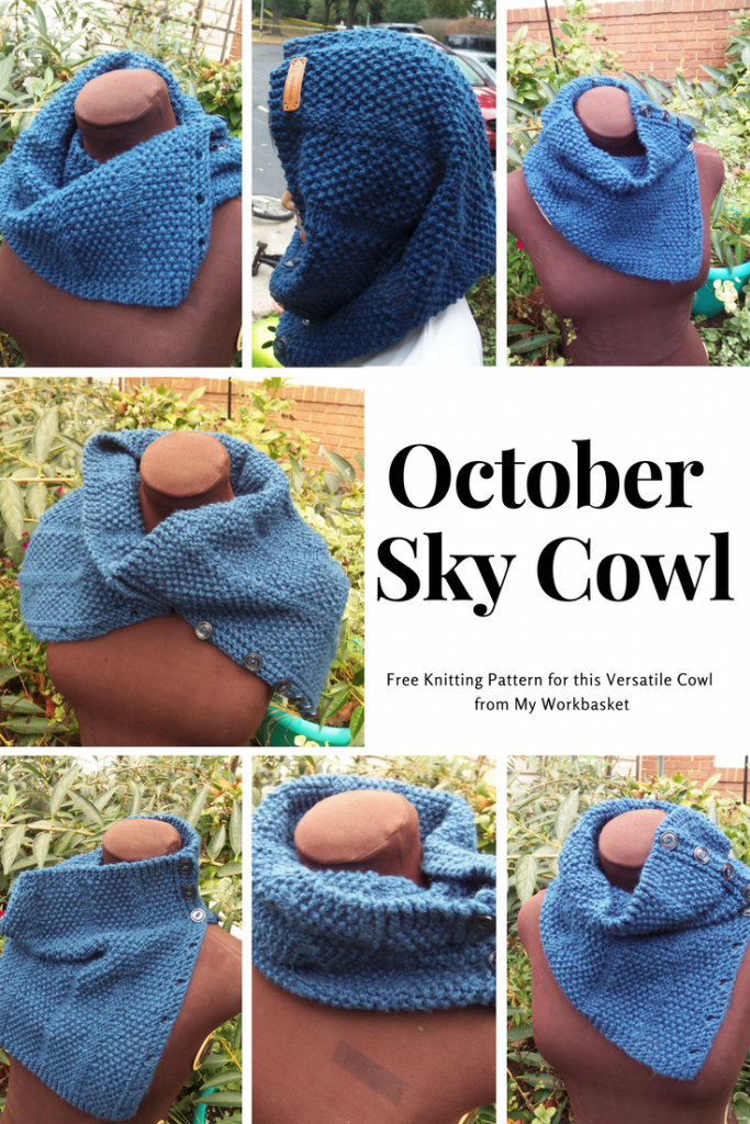 Free knitting pattern for this versatile buttoned cowl from My Workbasket