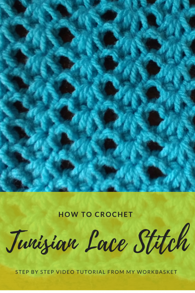 Tunisian Lace Stitch- Block G for the CAL