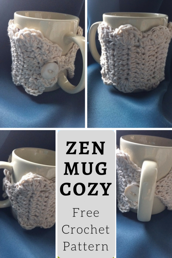 Free crochet pattern for the Zen Mug Cozy! My Workbasket