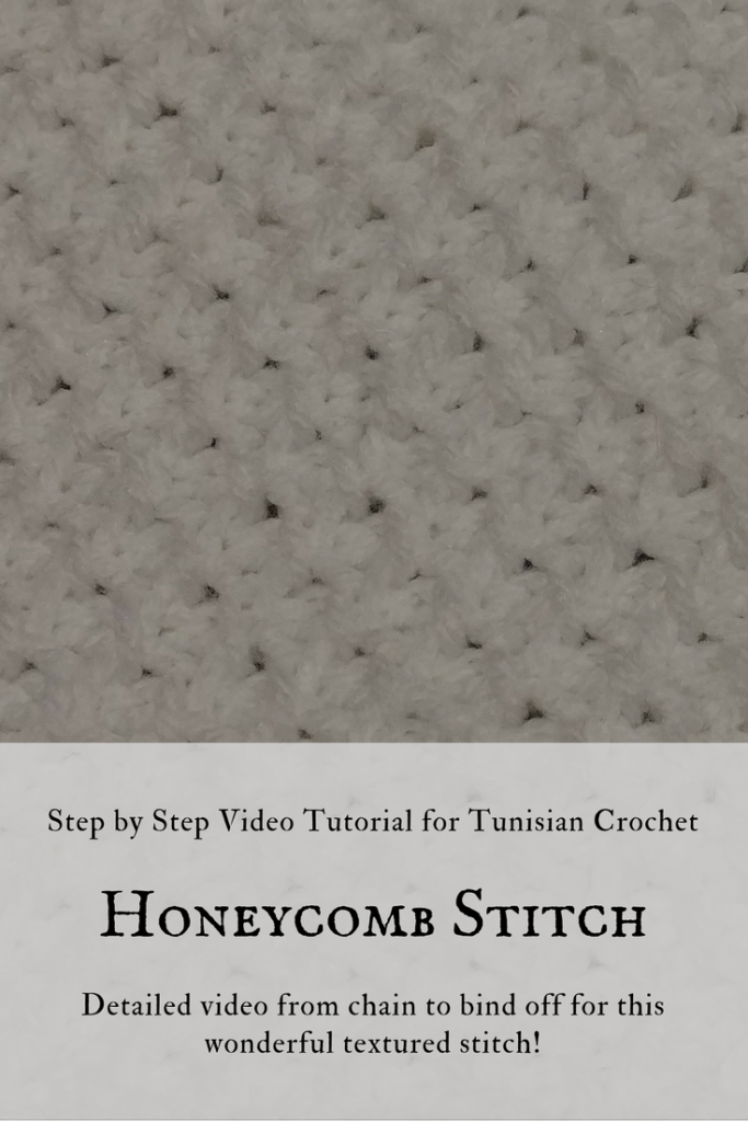 Tunisian Crochet Honeycomb Stitch- CAL Block H
