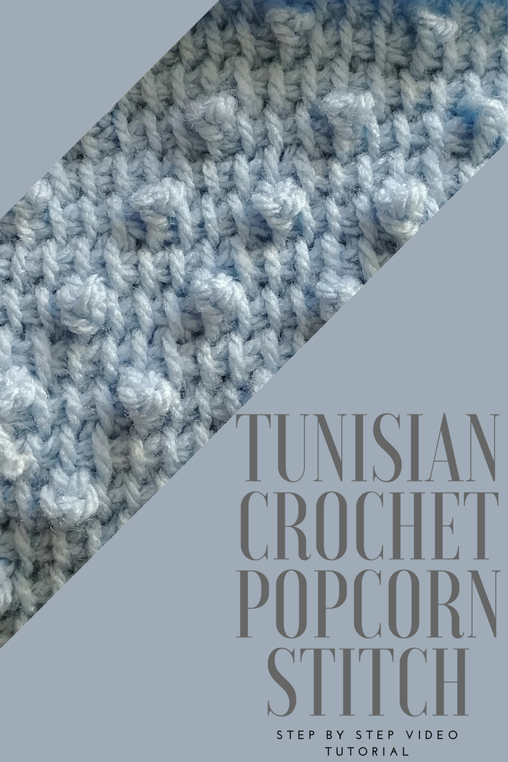 Tunisian Crochet Popcorn Stitch! CAL Block I- Final Block