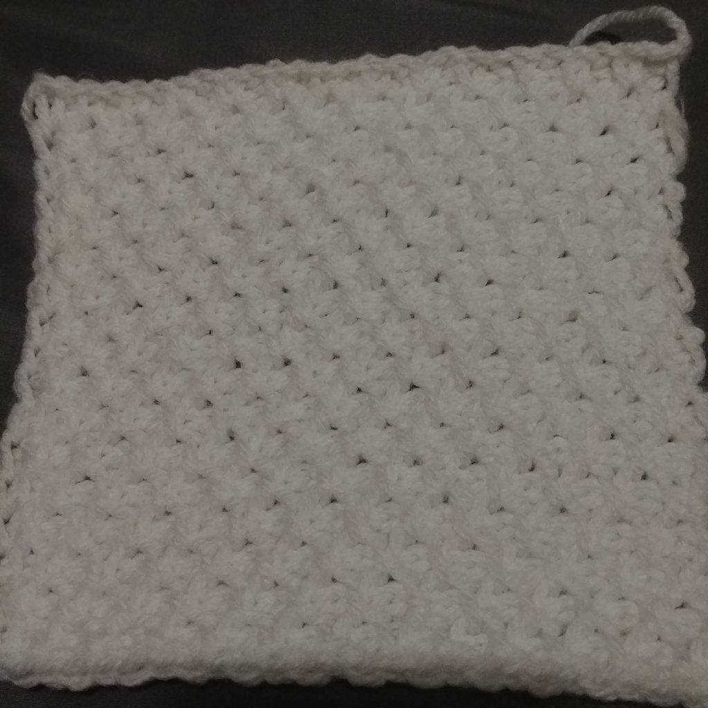 Tunisian Crochet Honeycomb Stitch Cal Block H My Workbasket