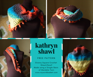 A free pattern for the Kathryn Crochet Shawl, free from My Workbasket
