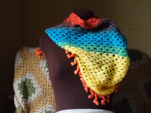 The Katherine Shawl- A granny style shawl that uses a single skein of yarn, FREE from My Workbasket