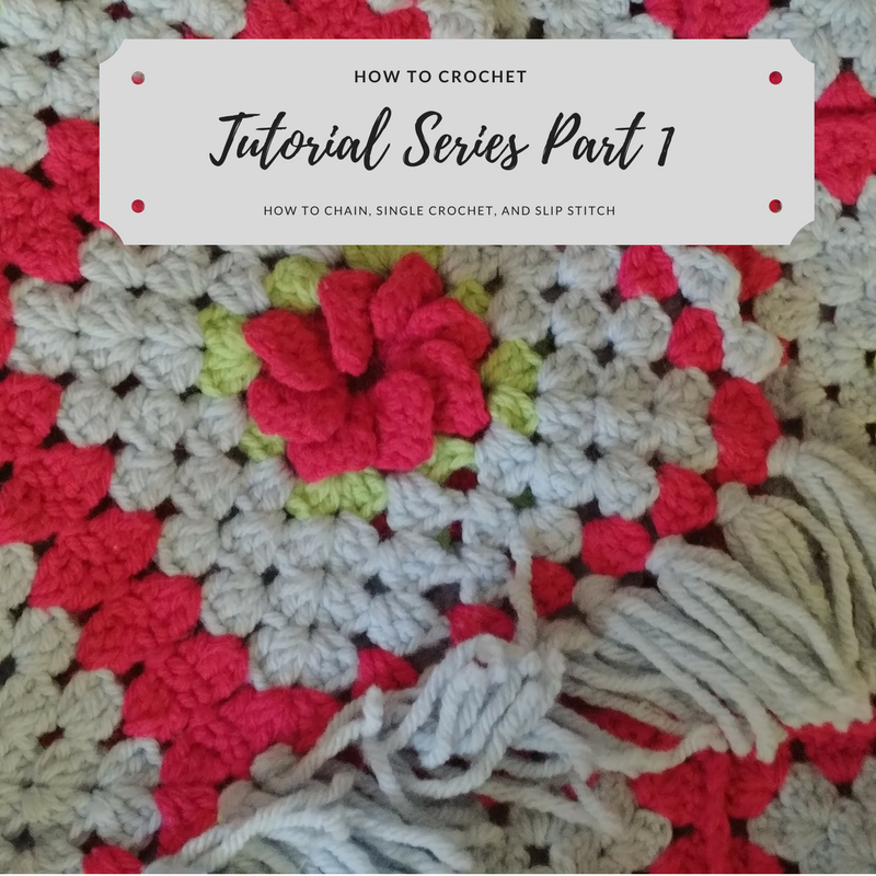 Part 1 of Starting to Crochet. Video Tutorial shows How to chain, single crochet, and slip stitch!