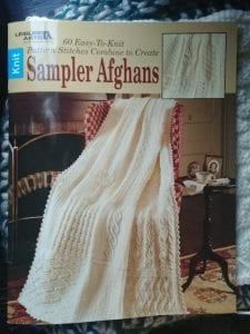 Cover image of this great book by Leisure Arts- Knit Sampler Afghans-- Review from My Workbasket