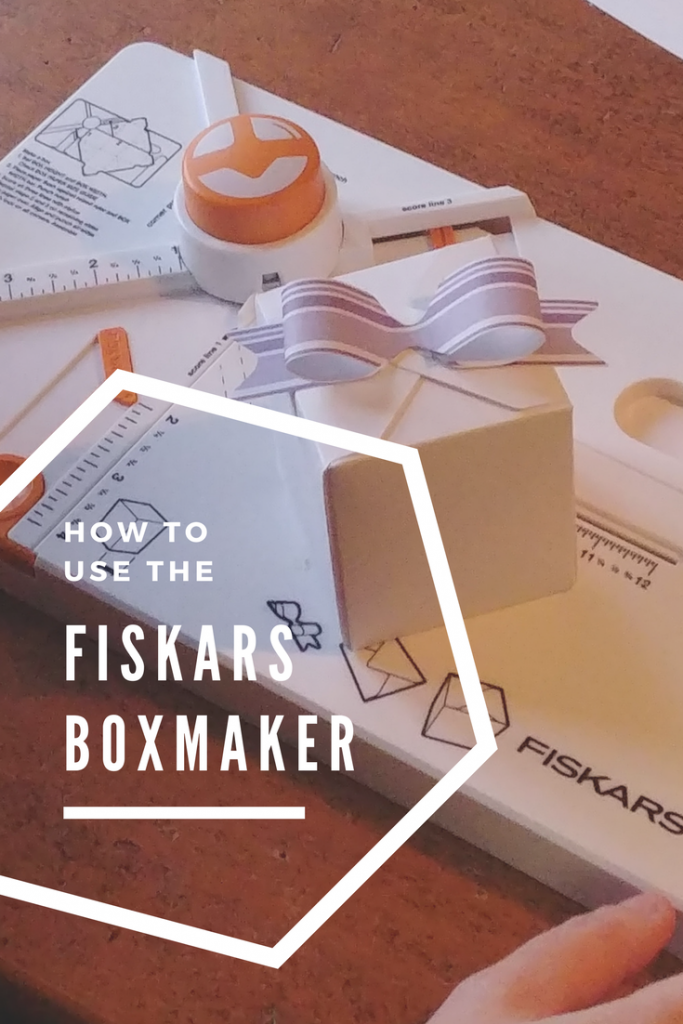 How to use the Fiskars Boxmaker to make quick custom envelopes, boxes, and adorable bows! -- My Workbasket