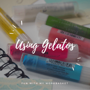 Fun and easy thank you cards using Faber Castell Gelatos!