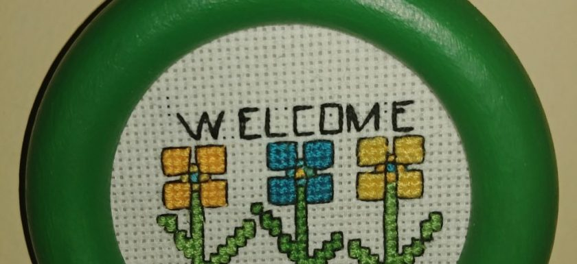 FREE Geometric Flowers Cross Stitch pattern